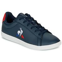 Zapatos Niños Zapatillas bajas Le Coq Sportif COURTSET GS Marino / Rojo