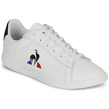 Zapatos Niños Zapatillas bajas Le Coq Sportif COURTSET GS Blanco
