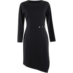textil Mujer Vestidos Lisca Estelle  vestido de manga larga negro Pearl Black
