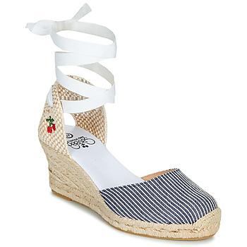 Zapatos Mujer Sandalias Le Temps des Cerises POLY Azul / Blanco