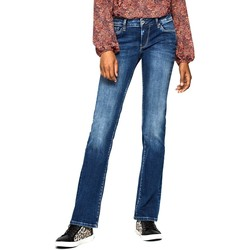 textil Mujer vaqueros slim Pepe jeans PICADILLY DB6 Azul