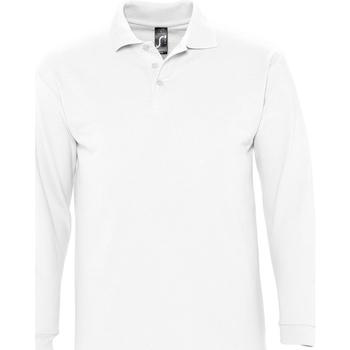 textil Hombre polos manga larga Sols WINTER 2 CASUAL MEN Blanco