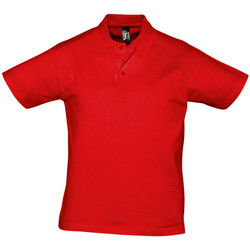 textil Hombre polos manga corta Sols PRESCOTT CASUAL DAY Rojo