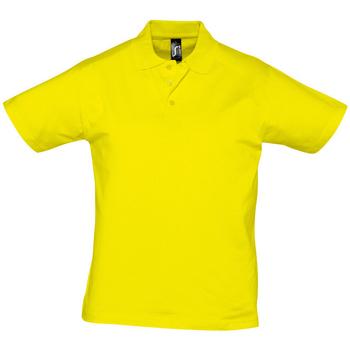 Mejor Empresa Logotipo Camiseta en Amalfi Amarillo-Mangas Cortas Algodón Crew Tee