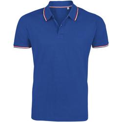 textil Hombre polos manga corta Sols PRESTIGE MODERN MEN Azul