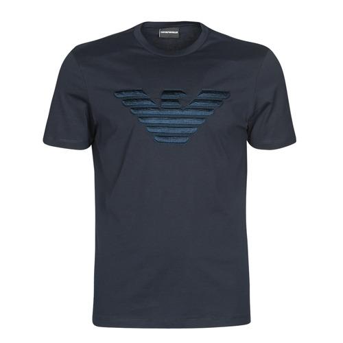 textil Hombre camisetas manga corta Emporio Armani DOUNIA Marino
