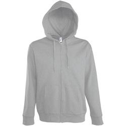 textil Hombre chaquetas de deporte Sols SEVEN KANGAROO MEN Gris