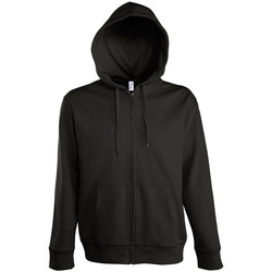 textil Hombre chaquetas de deporte Sols SEVEN KANGAROO MEN Negro