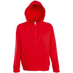 textil Hombre chaquetas de deporte Sols SEVEN KANGAROO MEN Rojo