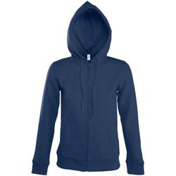 textil Mujer chaquetas de deporte Sols SEVEN KANGAROO WOMEN Azul
