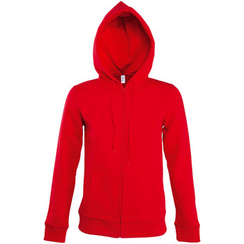 textil Mujer chaquetas de deporte Sols SEVEN KANGAROO WOMEN Rojo