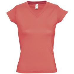 textil Mujer camisetas manga corta Sols MOON COLORS GIRL Rosa