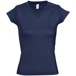 textil Mujer camisetas manga corta Sols MOON COLORS GIRL Azul