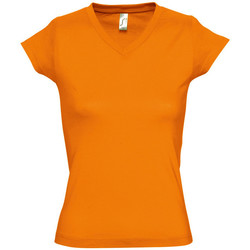 textil Mujer camisetas manga corta Sols MOON COLORS GIRL Naranja