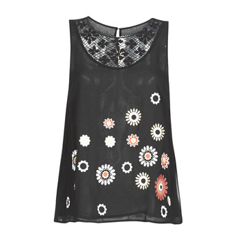 textil Mujer camisetas sin mangas Desigual TEBAS Negro