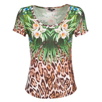 textil Mujer Camisetas manga corta Desigual JUNGLE Multicolor