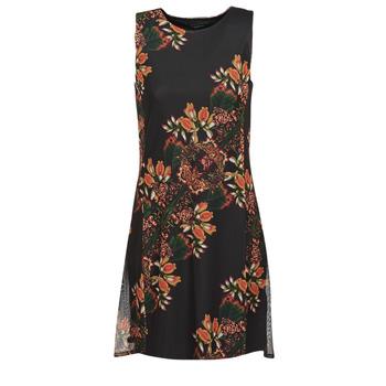 textil Mujer vestidos cortos Desigual PAPILLON Multicolor