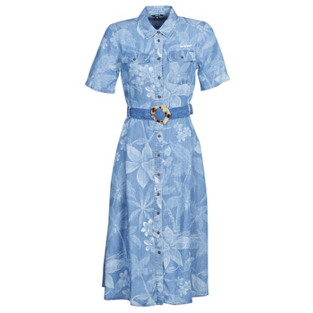 textil Mujer vestidos largos Desigual KATE Azul