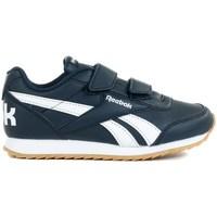 Zapatos Niños Zapatillas bajas Reebok Sport Royal Cljog 2 2V Blanco, Azul marino