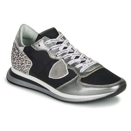 Zapatos Mujer Zapatillas bajas Philippe Model TROPEZ X Negro / Plateado