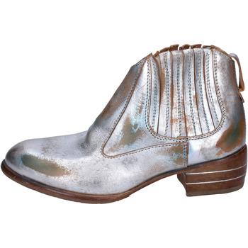 Zapatos Mujer Botas de caña baja Moma botines cuero plata
