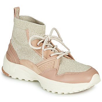 Zapatos Mujer Zapatillas altas Coach C245 RUNNER Rosa / Nude / Plata