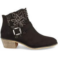 Zapatos Mujer Botines Flyfor J103 Negro