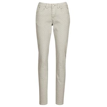 textil Mujer Pantalones con 5 bolsillos Cream ANNIE Gris
