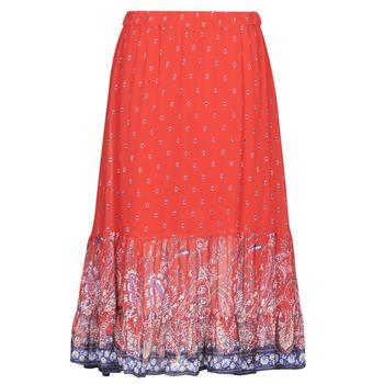 textil Mujer Faldas Cream NALITA Rojo