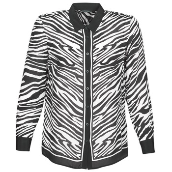 textil Mujer camisas Ikks BQ12105-03 Negro / Blanco