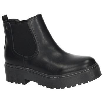 Zapatos Mujer Botas de caña baja Refresh Botin plataforma NEGRO