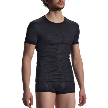 Ropa interior Hombre Camiseta interior Olaf Benz Camiseta RED1907  negro Pearl Black