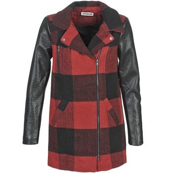 textil Mujer Abrigos Noisy May TEXAS Rojo / Negro