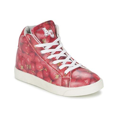 Zapatos Niña Zapatillas altas American College RED Rojo