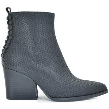 Zapatos Mujer Botas de caña baja Exé Shoes BOTINES WEST BOTONES NEGRO RAMONA-525 Color Negro