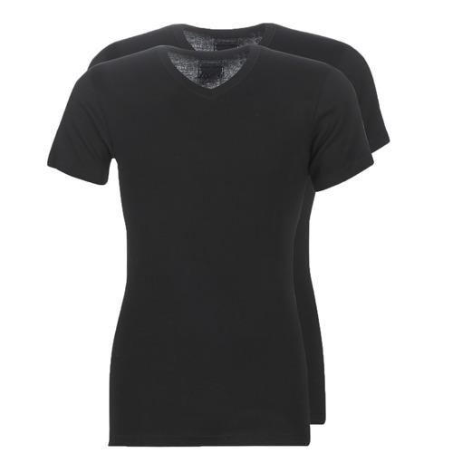 textil Hombre Camisetas manga corta Athena T SHIRT COL V Negro