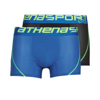 Ropa interior Hombre Boxer Athena AIR PERFORMANCE PACK X2 Negro / Azul