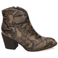 Zapatos Mujer Botines Xti Botines serpiente Marrón