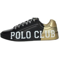 Zapatos Mujer Zapatillas bajas Beverly Hills Polo Club PC107 Sneakers Mujer Negro/Oro Negro/Oro