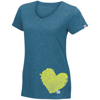 textil Mujer camisetas manga corta Wilson Summer Clay Heart Tech T