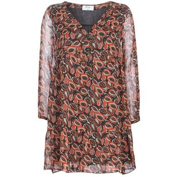 textil Mujer vestidos cortos Betty London LETICIA Negro / Rojo