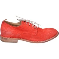 Zapatos Mujer Derbie Moma elegantes gamuza rojo