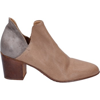 Zapatos Mujer Low boots Moma botines cuero gris