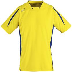 textil Hombre camisetas manga corta Sols MARACANA 2 SSL SPORT Amarillo