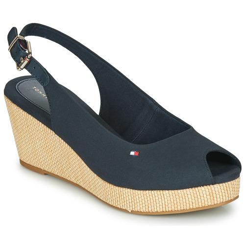 Zapatos Mujer Sandalias Tommy Hilfiger ICONIC ELBA SLING BACK WEDGE Navy