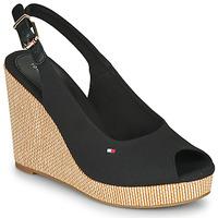 Zapatos Mujer Sandalias Tommy Hilfiger ICONIC ELENA SLING BACK WEDGE Negro