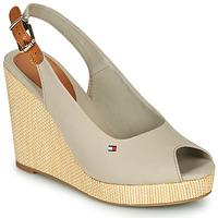 Zapatos Mujer Sandalias Tommy Hilfiger ICONIC ELENA SLING BACK WEDGE Gris