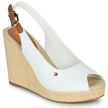 Zapatos Mujer Sandalias Tommy Hilfiger ICONIC ELENA SLING BACK WEDGE Blanco