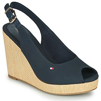 Zapatos Mujer Sandalias Tommy Hilfiger ICONIC ELENA SLING BACK WEDGE Navy