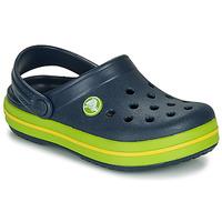 Zapatos Niños Zuecos (Clogs) Crocs CROCBAND CLOG K Marino / Verde